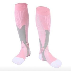✅ 1 pair of pink compression socks S/M or L/XL